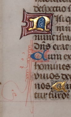 Illuminated; Original leaf from a Bruges manuscript - 15th century