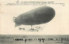 "Aviation - Ballooning - Lot of 6 old postcards ""le Dirigeable Conté, Le République"""
