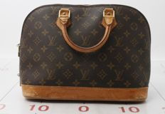 Louis Vuitton - Alma en toile monogram et cuir naturel Handbag - Vintage