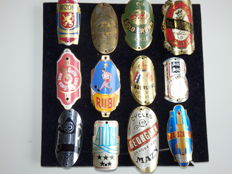 Collection of 12 Nice Bicycle Head Badges, Balhoofdplaatjes. with some Rare oa - De Adelaar en Rubi en andere