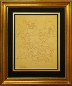 Barks, Carl - Original preliminary layout sketch - Scrooge McDuck - 'Ye Olde Wishing Well' (1971)