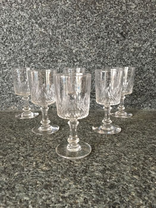 Baccarat - 6 crystal liqueur glasses, 'Richelieu Cylindrique' model