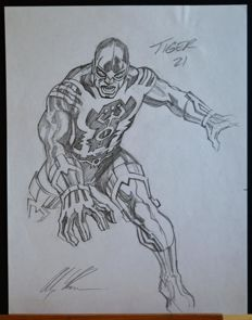 Original Signed Sketch By Alex Ross - Tiger 21