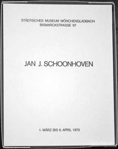 Jan Schoonhoven - Catalogue with relief print Stadtisches Museum Mongengladbach