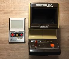 2 Rare Nintendo Donkey King Jr. Game and Watch. Table Top + Panorama Screen