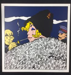"Pratt, Hugo - silk screen print ""Contessa Semenova"" (1990)"