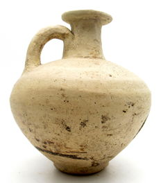Roman Terracotta Legionary Jar / Flagon with Handle - 122x137mm