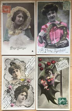Lot consisting of 420 postcards Love / women - very beautiful collection - batch with 420 cards on the theme love / women
