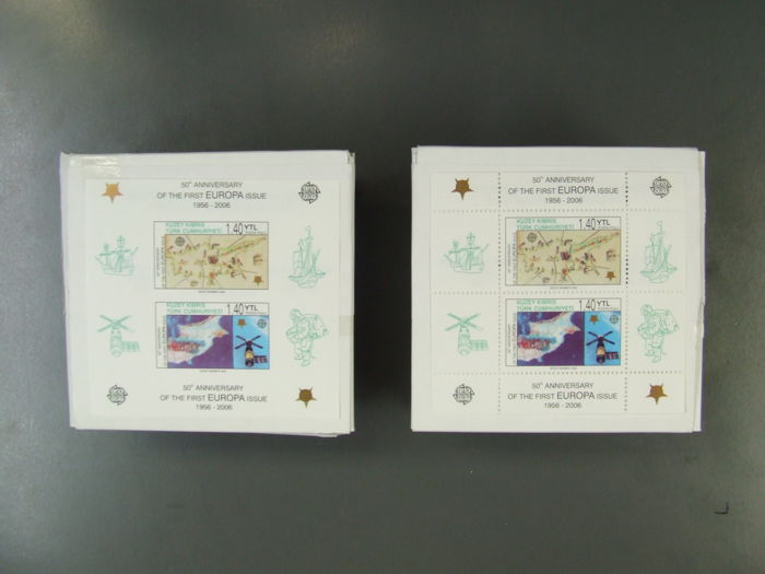 Cyprus – blocks – block 24A+B, 500 pieces each in original packaging, therefore a total of 1000 blocks