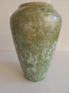 Marc Roussel Vallauris - Baluster vase made of earthenware - art deco style iridescent decor