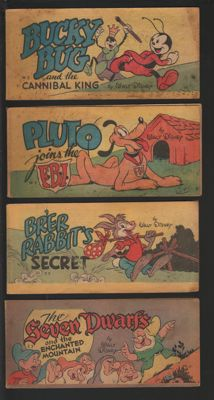 Disney - 4 Cheerios Giveaways - No. W2. W3, Y2 and Z3 - 4xsc - 1st print (1947)