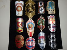Collection of 12 Nice Bicycle Head Badges, Balhoofdplaatjes. with some Rare oa - Roberta en Gazelle en andere
