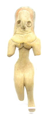 Indus Valley Terracotta Seated Female Idol  / Figurine - 130mm