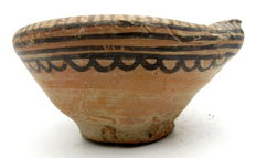 Indus Valley Painted Terracotta Pourer with Geometric motif - 113x56mm