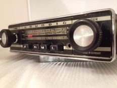 Grundig Weltklang 3000a classic oldtimer car radio from 1968 for Volkswagen, BMW, Mercedes, Porsche, Opel, and others