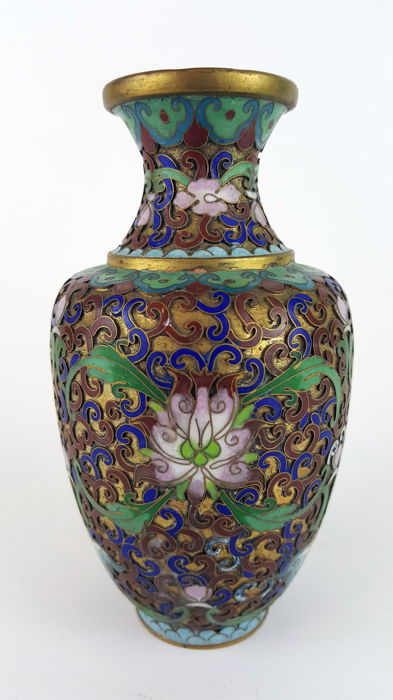 A Champlev And Cloisonn Vase China First Half 20th Century