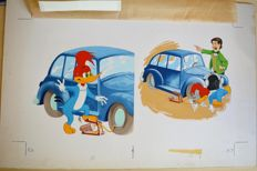 Woody Woodpecker - Original plate for Little Golden Books