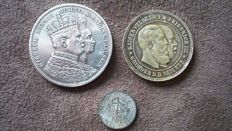 Germany – 3 coins / medals from 1861 to 1925