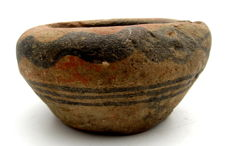 Indus Valley Painted Terracotta Pourer with Snake motif - 90mm