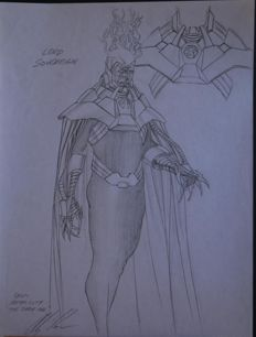 Original Signed Sketch By Alex Ross - Lord Sovereign