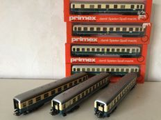 Primex H0 - 4009/4197/4198 - Seven carriages of the DB