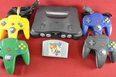 Nintendo N64 Console w/ 4 Controllers & Mario Party