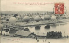 Balloon - Aviation - Aerospace - old postcard - Souvenir of the Circuit de la Sarthe Balloon contest of the Aero-Club of France