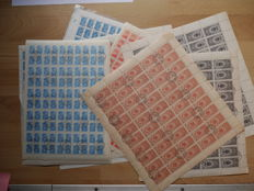 Soviet Union from 1948 - 87 sheets with 1,000 stamps - Michel no. 1335I, 1654, 1655, 1956, 2362 and 4749