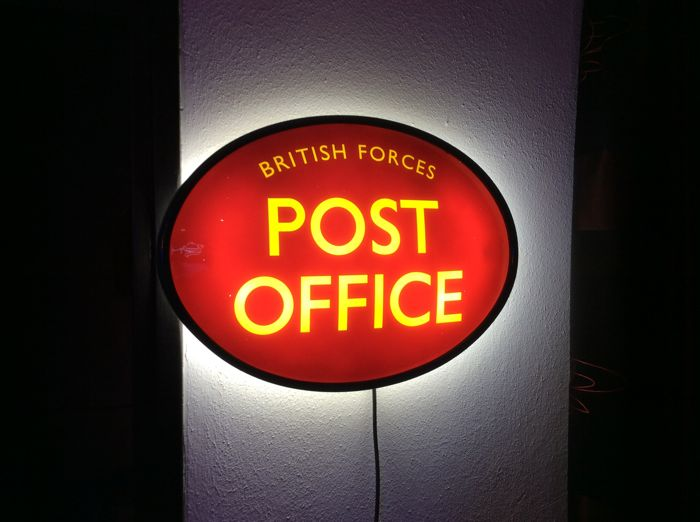 Post Office British Forces illuminated advertising