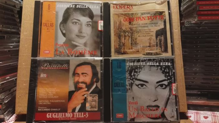 Lot cd classical music operas and songs in very good condition total