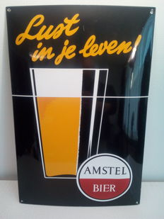 Enamel sign Amstel Bier - 60 cm x 40 cm - 2nd half 20th century