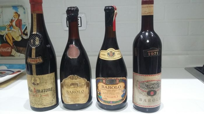 Italian Wine, 3x Barolo and 1x Amarone - 4 bottles