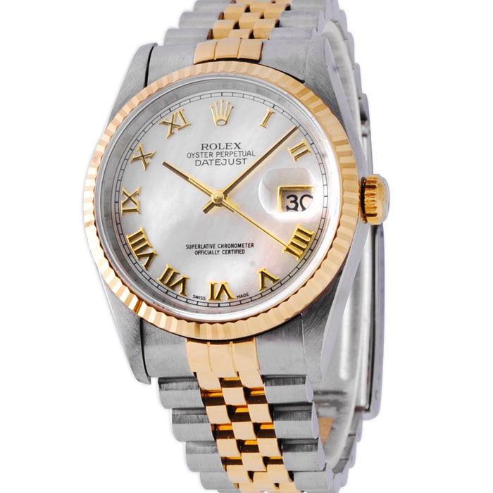 Rolex Date-Date Just 16233- very Rare Oyster with Roman mother pearl dial-for Man cal.3135-1995