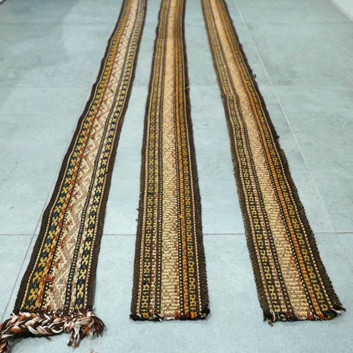 3 strips of Nomad Yurt band, Uzbekistan - 700 cm