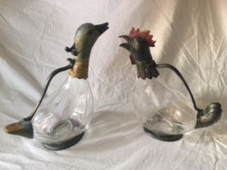 Pair of wine decanters