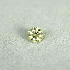 Diamond – 0.31 ct VS1– Fancy Greenish Yellow