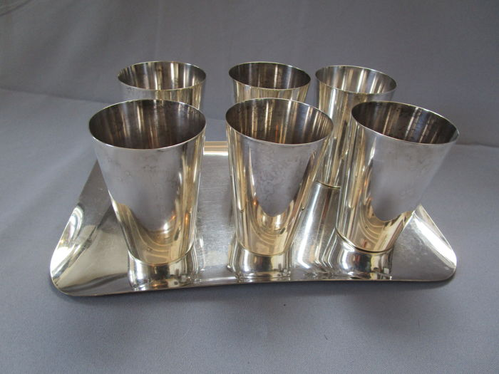WMF (Württembergische Metallwaren Fabrik) Germany - drink set - silver-plated - mid of the 20th century