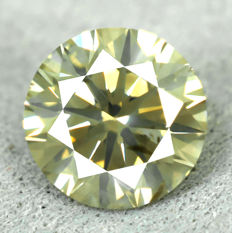 Diamond – 1.16 ct, Natural Fancy Greenish Yellow –  EXC/VG/VG