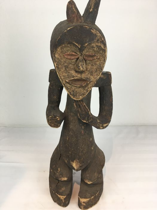 Wooden Ancestor Figure from the MAMBILA Tribe, Nigeria / Africa