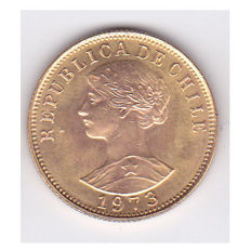 Chile - 50 Pesos, 1973, weight: 1.17 g, 18 kt gold, MK not reported