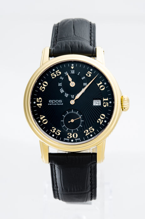 Epos - Yellow Gold Plated Men's Automatic Watch - 3392/F-GP-BLK - Men - 2011-present