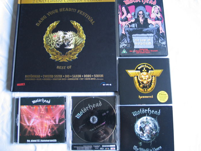 "Motörhead - lot of 5 CD's + 1 DVD + the picture book ""Bang Your Head !!! Festival"" - 2001 - 2005."