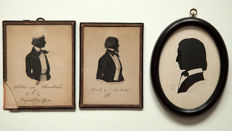 3 silhouettes Studentika - Germany 19th century