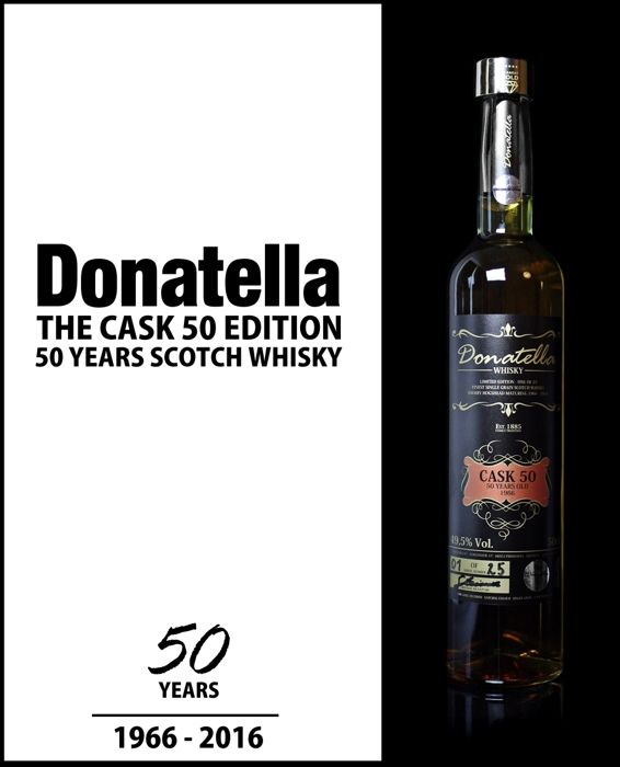 50 Years old - Donatella Scotch Single Grain Whisky - Cask 50 Edition - One of 25