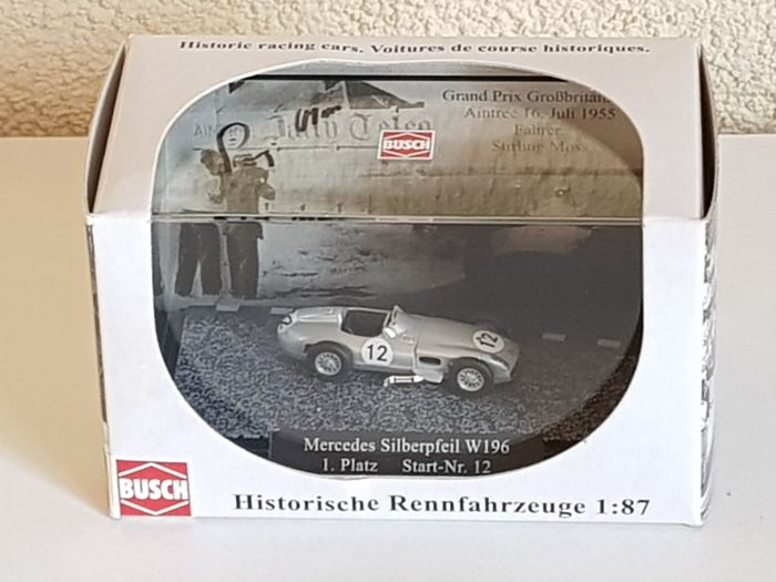 Stirling Moss - Mercedes Racing legend - hand signed miniature Mercedes Silverpfeil W196 + COA