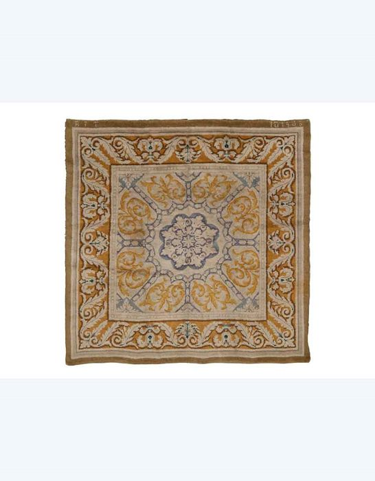 Savonnerie rug, Spain dated to 1943, dimensions: 270 x 260 cm