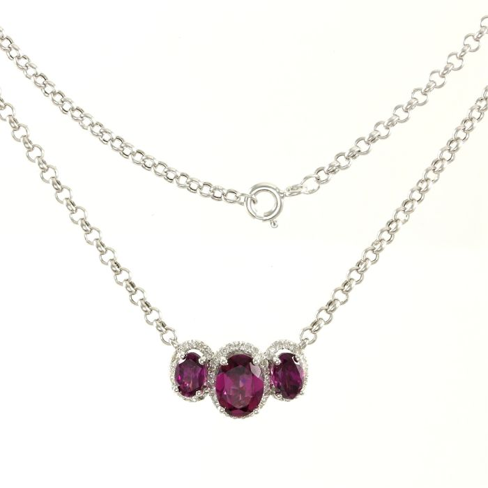 with two silver strand db diamond necklace ripka stone gold judith pendant purple