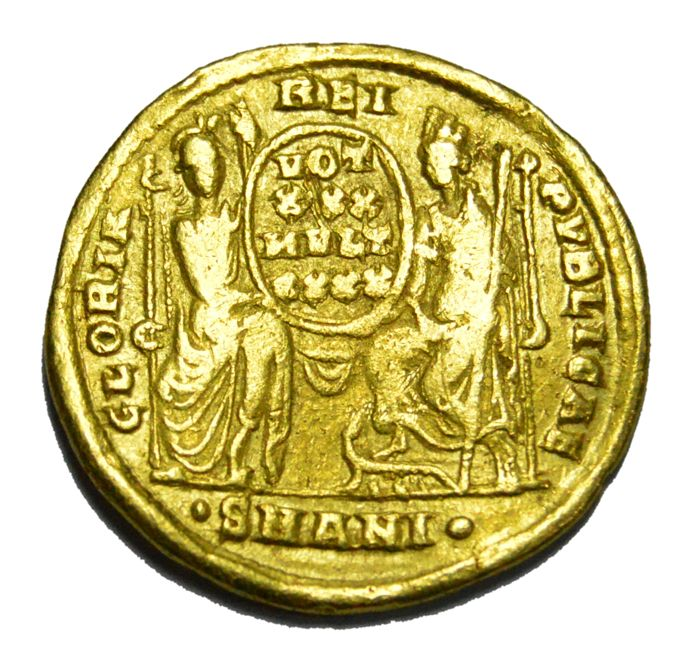 Roman Empire - Constantius II. 350 – 361 A.D. AV Solidus. Mint: Antioch struck between AD 355-361, 10th officina
