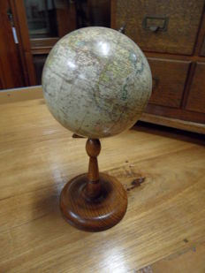 Antique globe, world globe from Hungary.