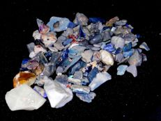 Lightning Ridge Fossil/Crystal Opal Specimens/Rough 728 cts Multicolours